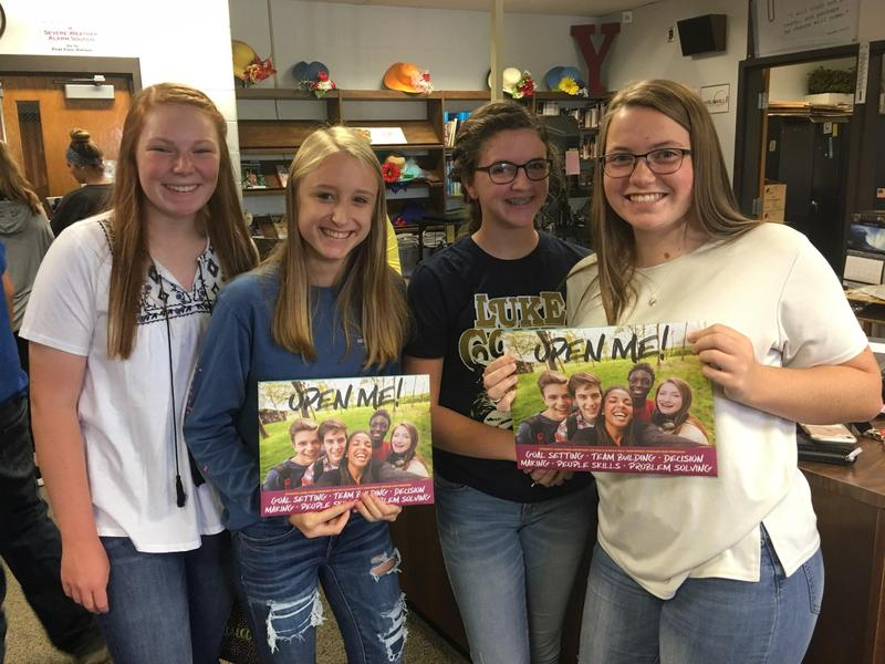CHS juniors at the kick-off meeting for magazine sales