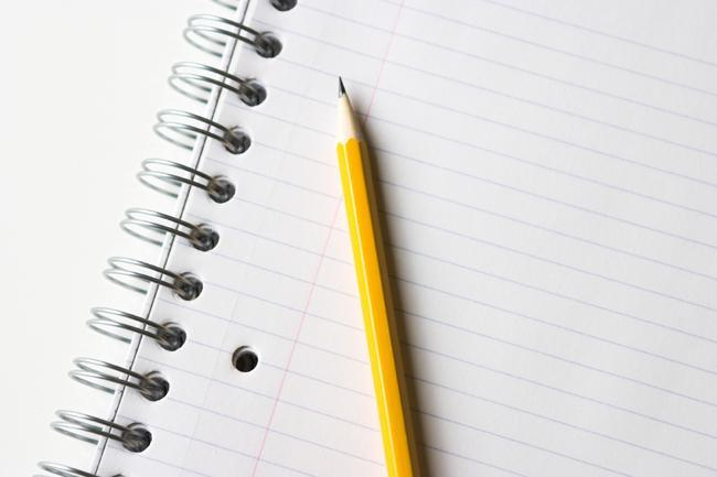Image of pencil and paper.