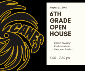Grade 6 Open House graphic