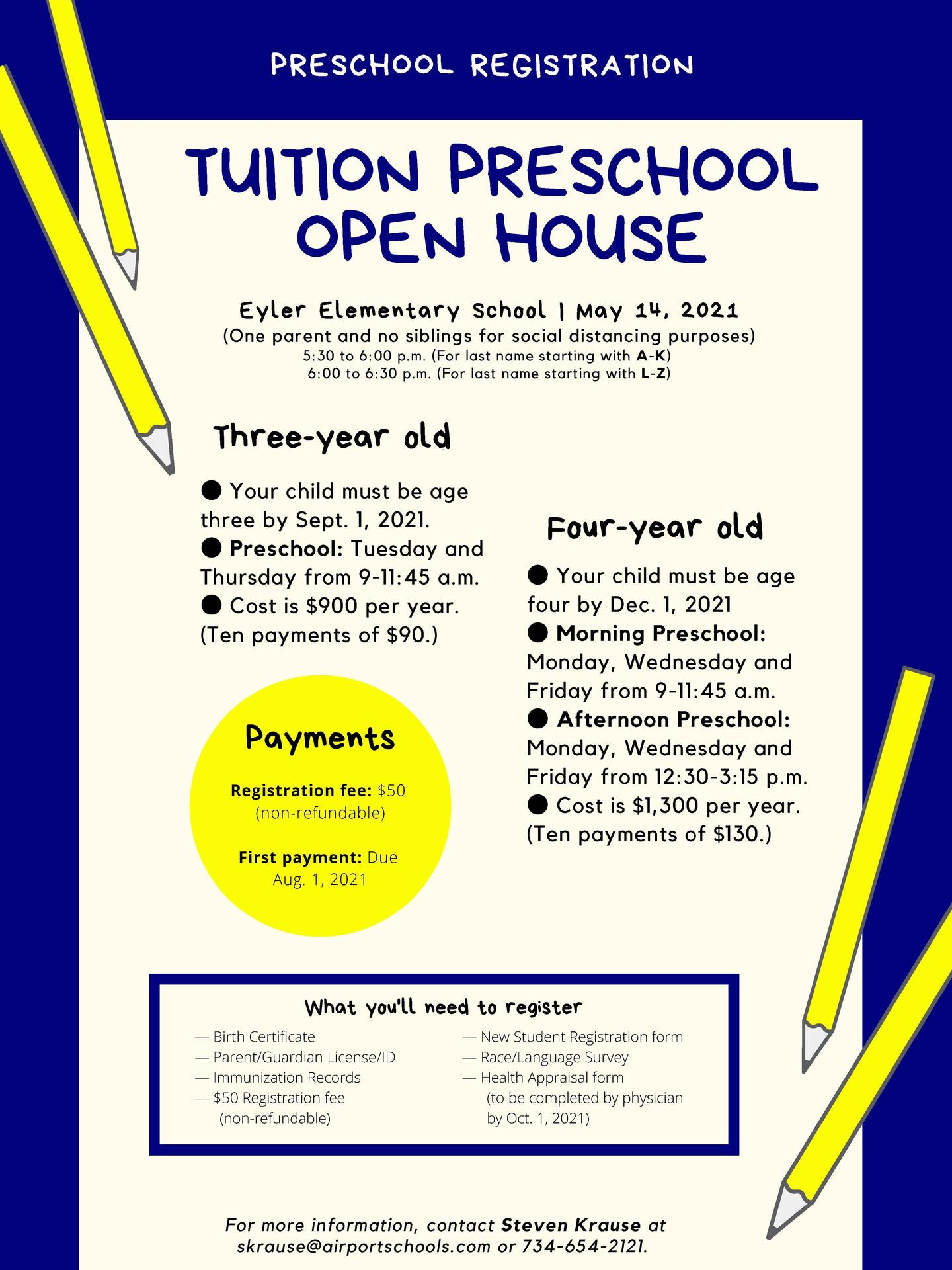 Tuition Preschool Flier