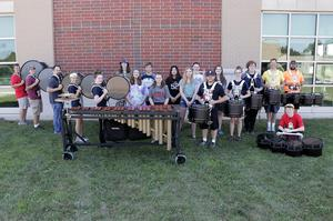 Entire percussion section with new instruments.