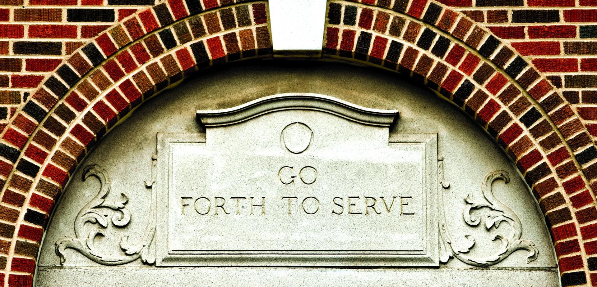 Enter to Learn. Go Forth to Serve.