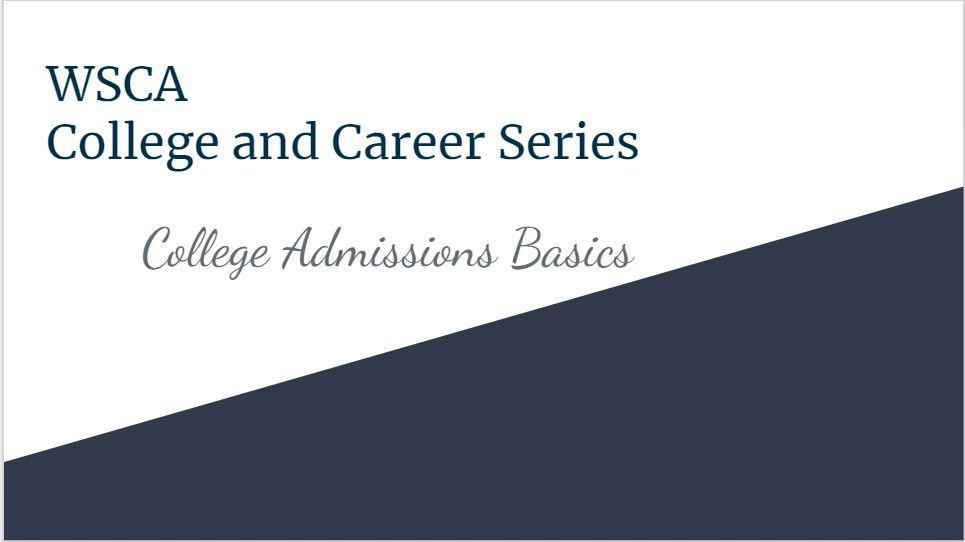 College and Career Basics Presentation