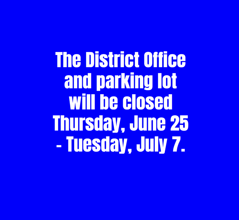 D75 District Office Closing Graphic
