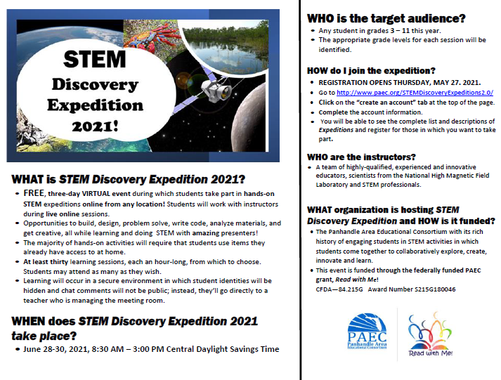 STEM Discovery Expedition Flyer