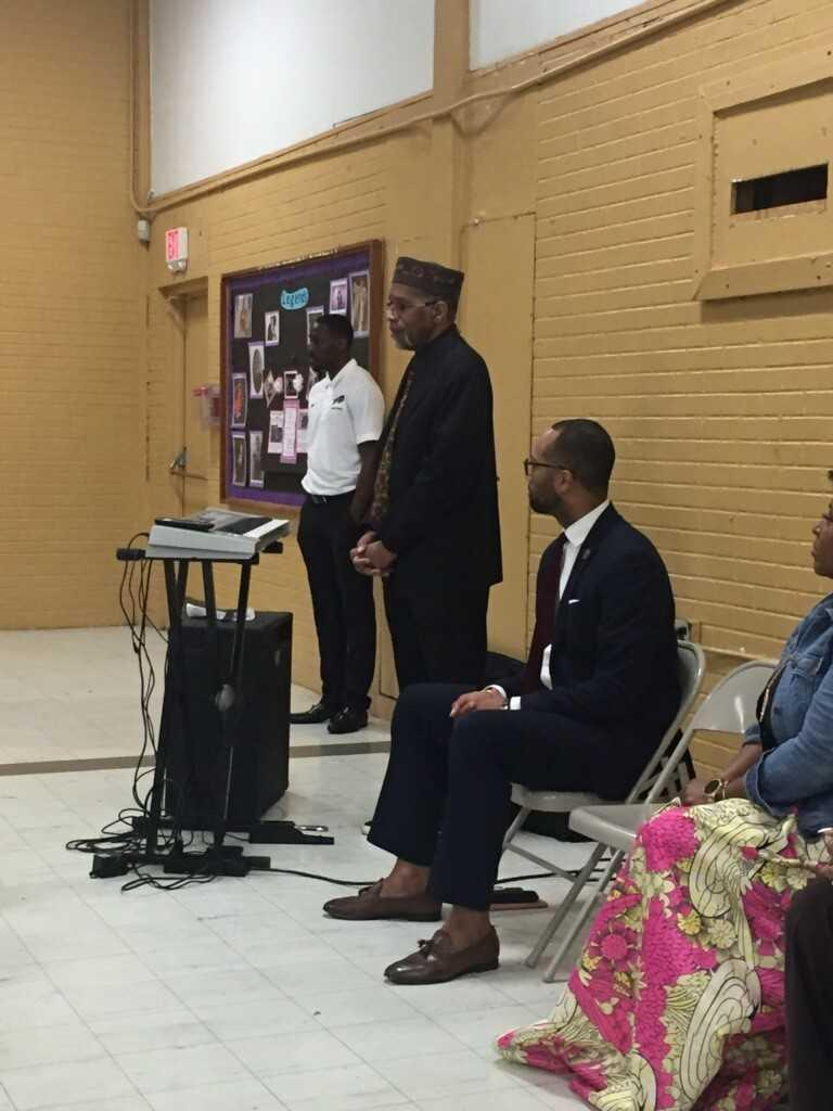 a photo of the Bakerfield/Baker Heights 2019 Black History guest speaker, Mr. Hymer Moore