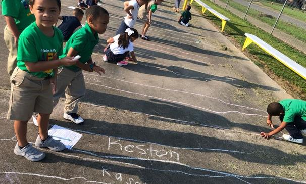 FIRST GRADERS LEARN ABOUT SHADOWS.