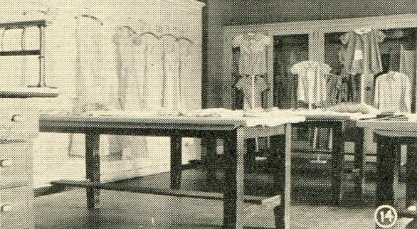 Dress exhibit, home economics class