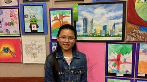 Jade Nguyen received Honorable Mention in the Fifth Grade Division