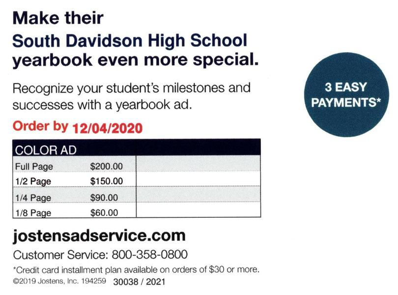 Senior Yearbook Ad Info