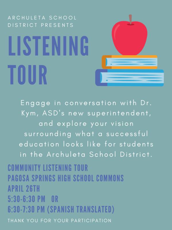 listening tour poster