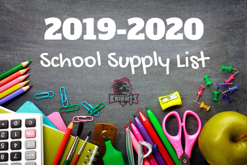 School Supply Lists 2019-2020