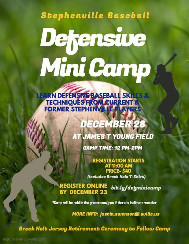 Stephenville Baseball Defensive Mini Camp Featured Photo
