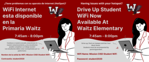 Drive Up WiFi Available at Waitz