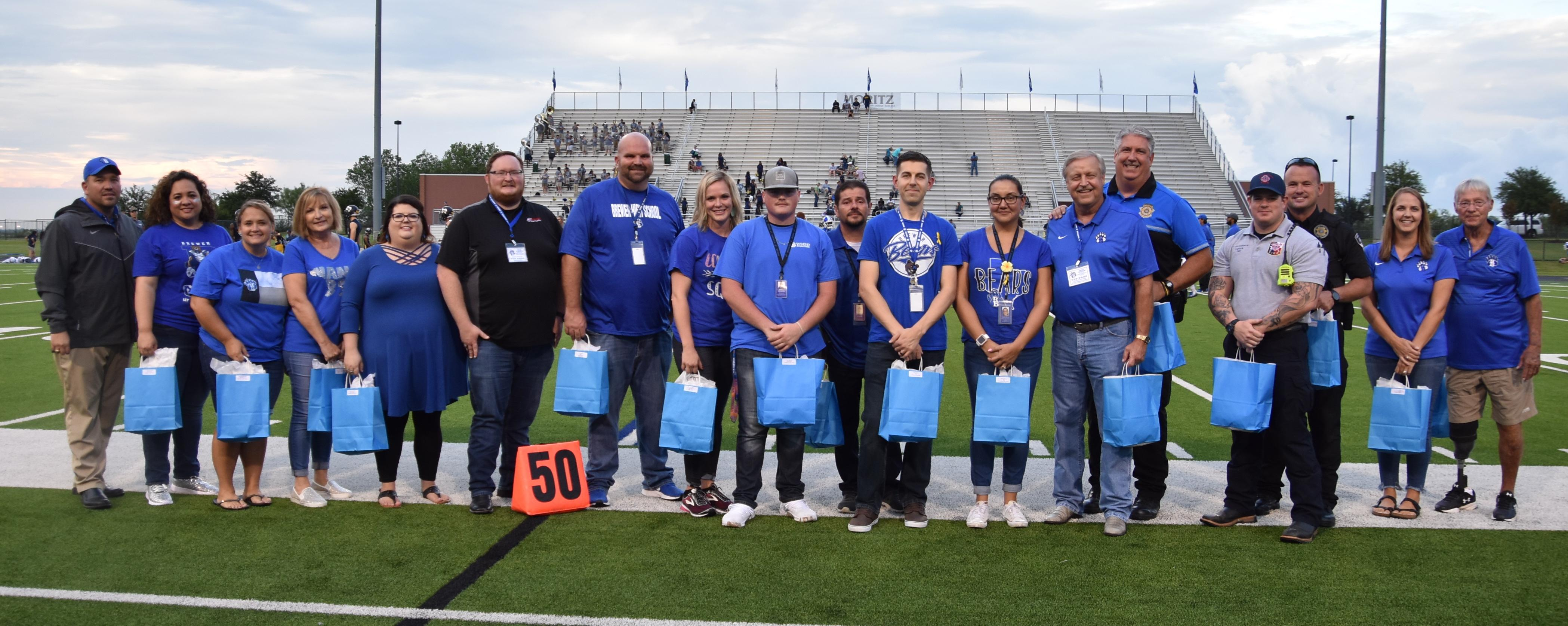 Brewer Bear of the Week Award Sept. 14 recipients