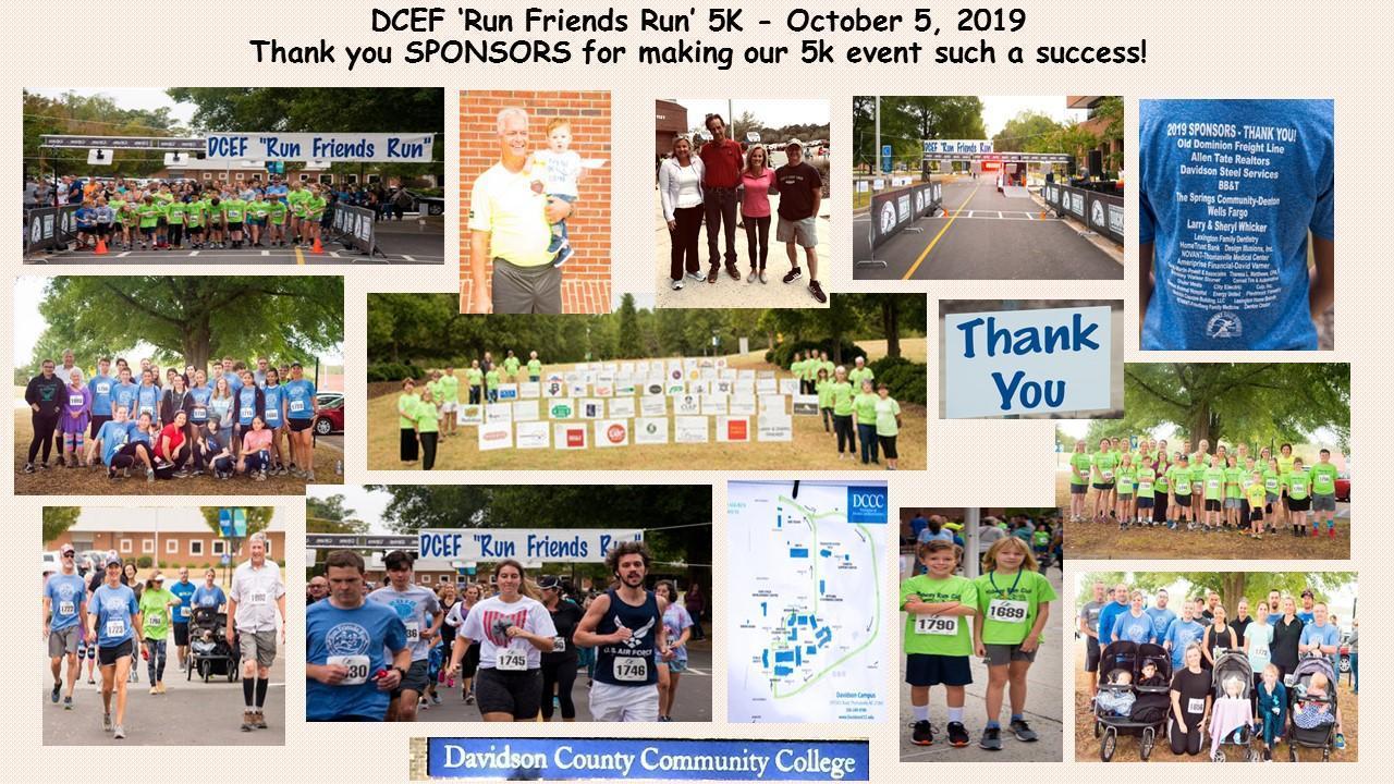 2019 DCEF Fun Run Collage