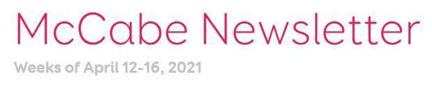 Newsletter for April 12-16, 2021 Thumbnail Image
