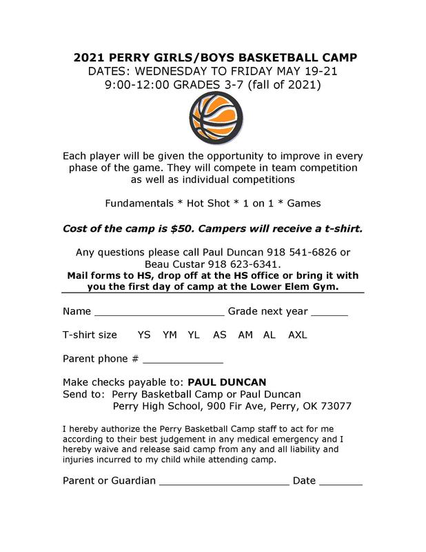 bball camp May 19th  through 21st