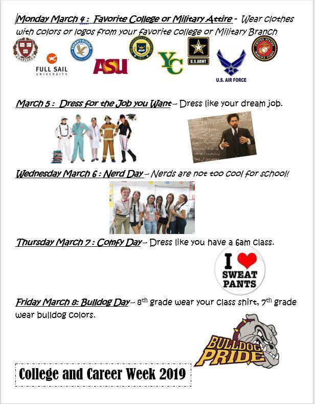 College and Career Week 2019, Mon. March 4 - Fri. March 8 Featured Photo