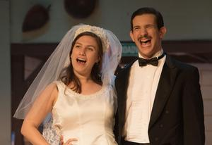 photo of Janet and Robert getting married at last in The Drowsy Chaperone at OLSH
