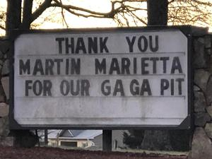 Thank you on our marquee