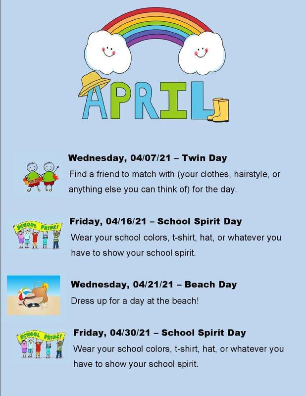 April Spirit Days