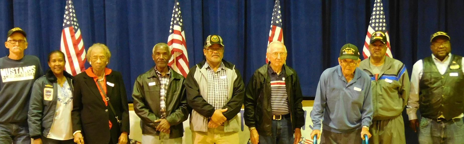 Honoring our Veterans during Veteran's Day Program