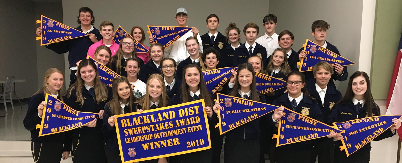 FFA students with awards