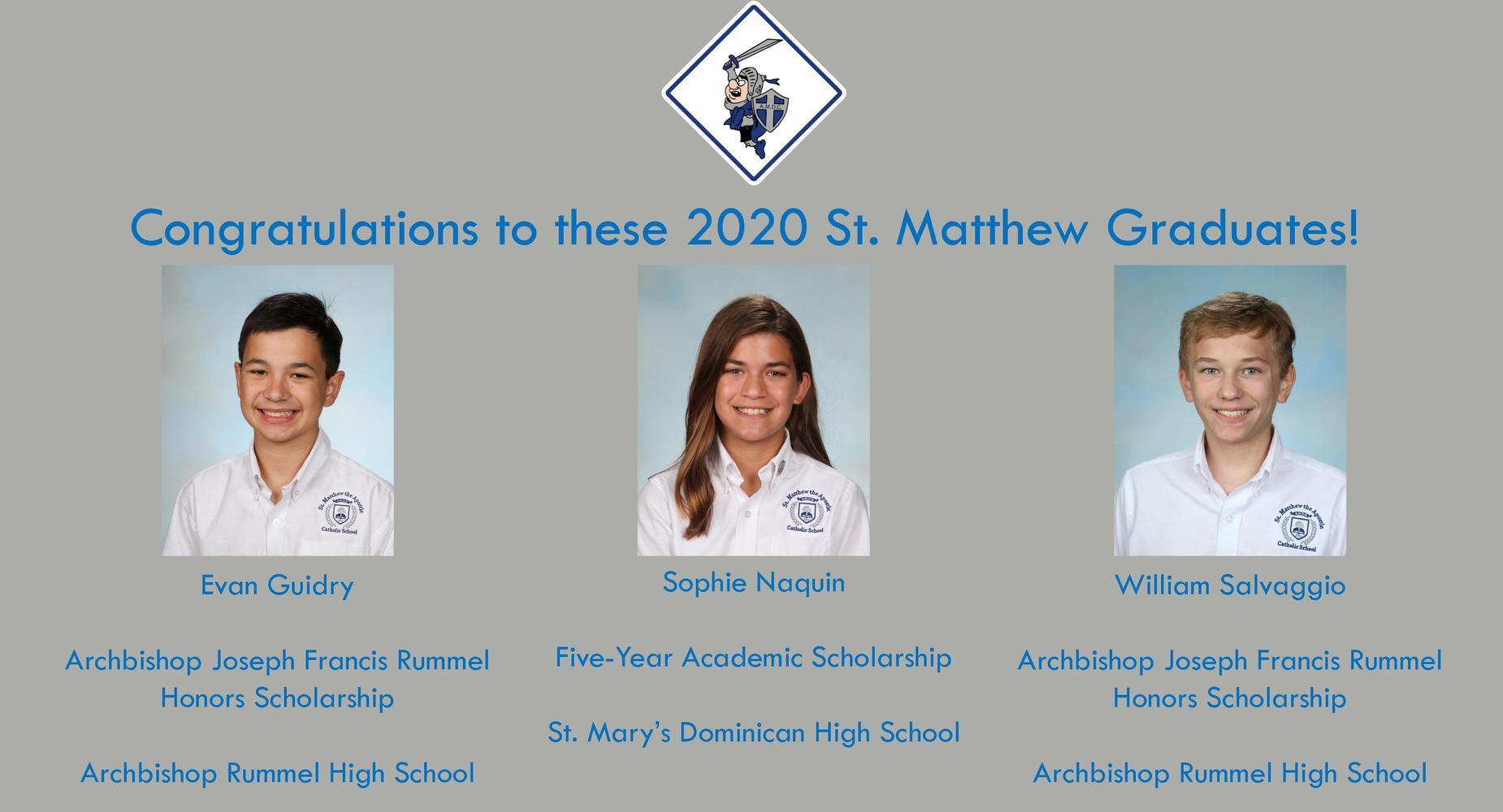 2020 7th Grade Scholarships