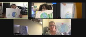 5 Earth drawings on zoom