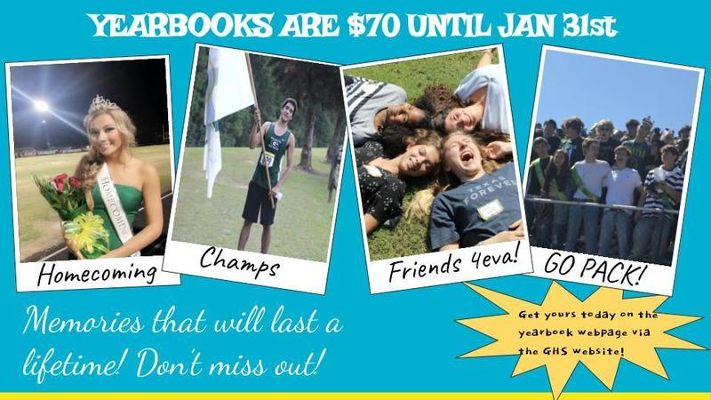 Yearbooks are 70.00 until Jan 31st