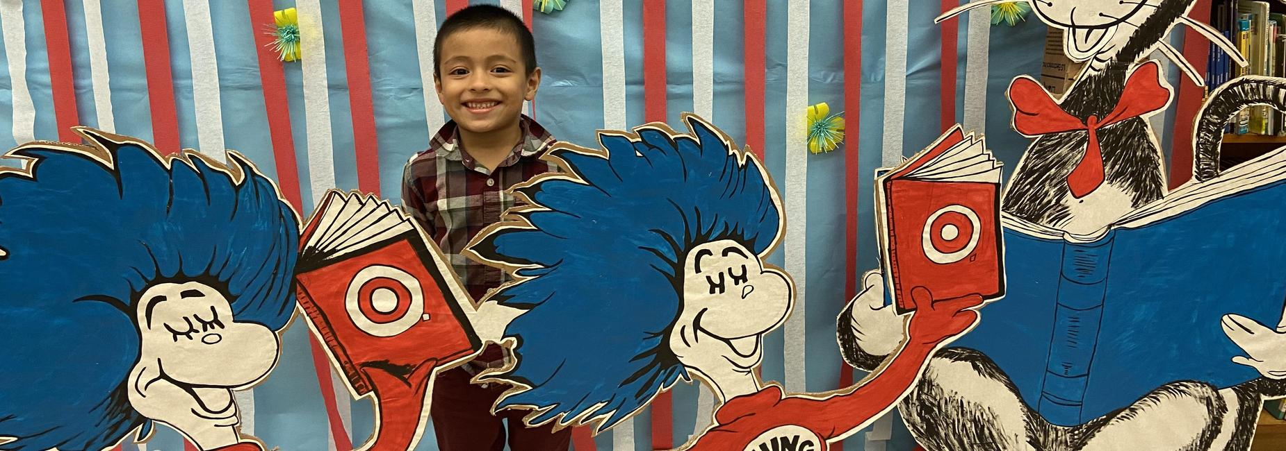 Marley Flores celebrates Read Across America!
