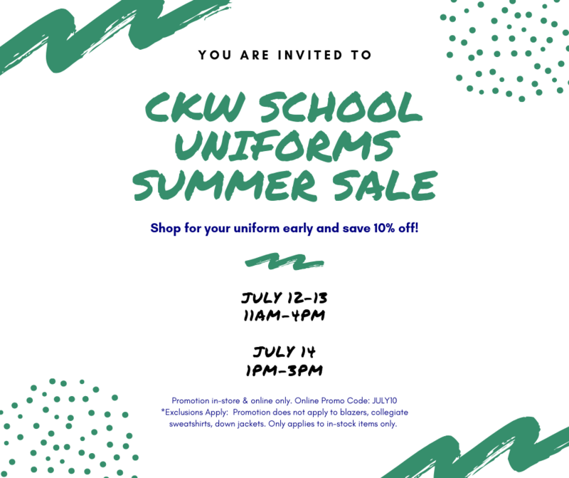 CKW Summer Sale Featured Photo