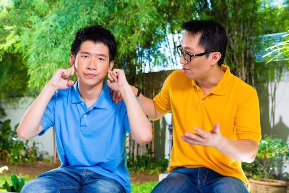 Son not listening to father