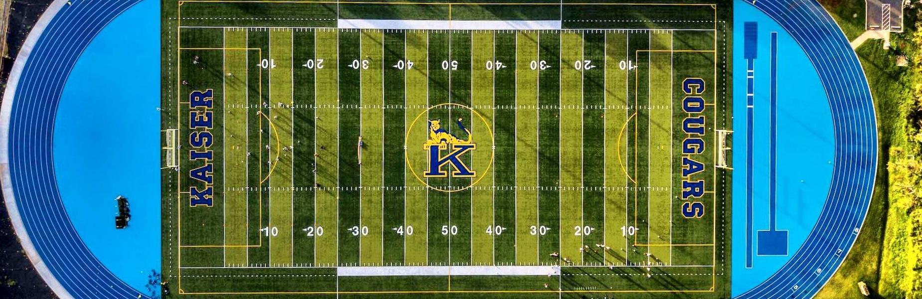 aerial view kaiser football field
