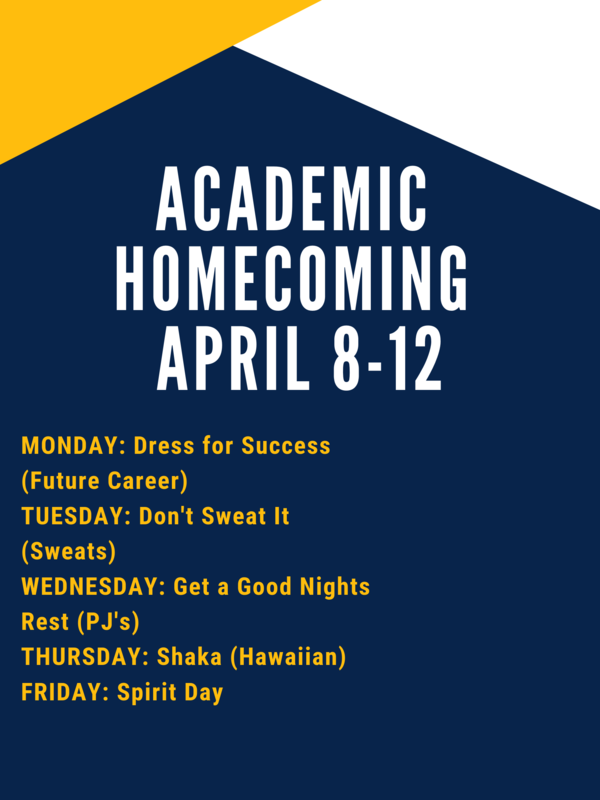 Academic Homecoming Dress Up Days
