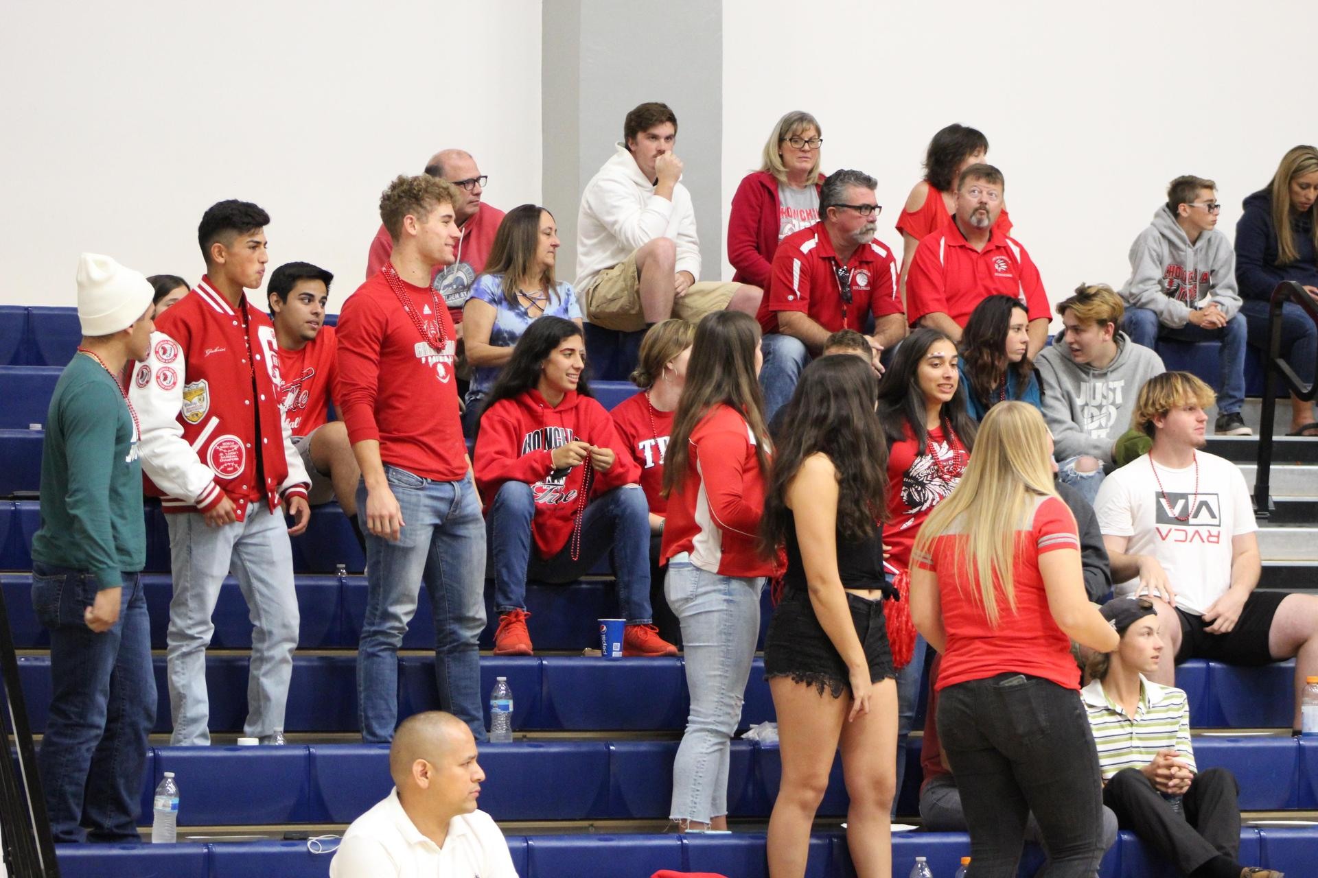 Chowchilla crowd in the College of the Sequoias gym