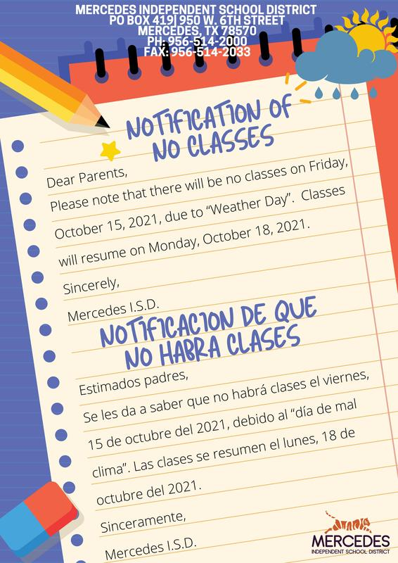 Weather Day - No School Notice for Friday, October 15, 2021 Featured Photo