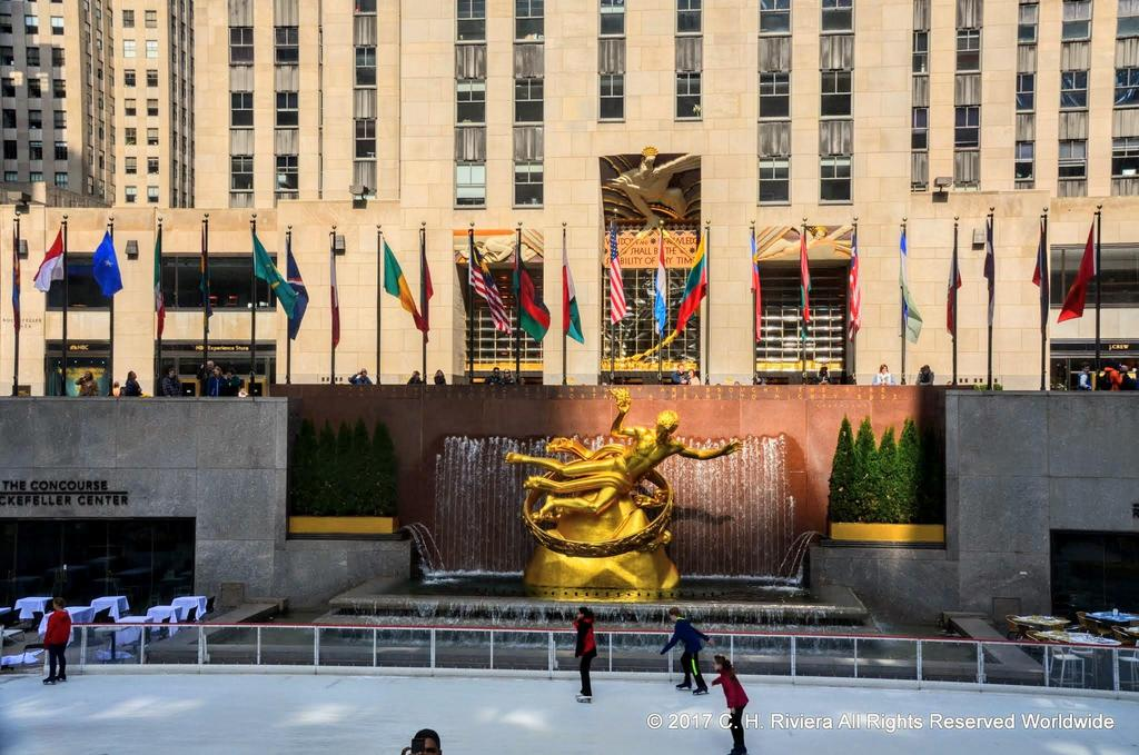 Rockefeller Center--Ice skating in April?!