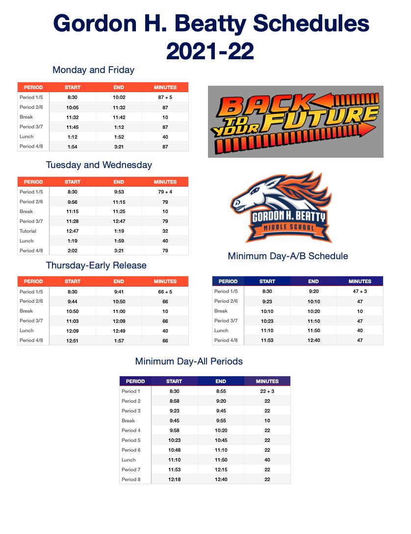 2021-22 schedule