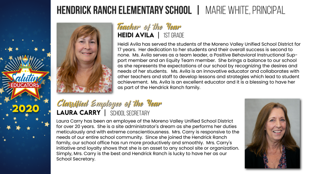 Hendrick Ranch Elementary Employees of the Year