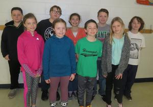 Fourth-grade students were selected to be speakers at the character assembly on fairness.