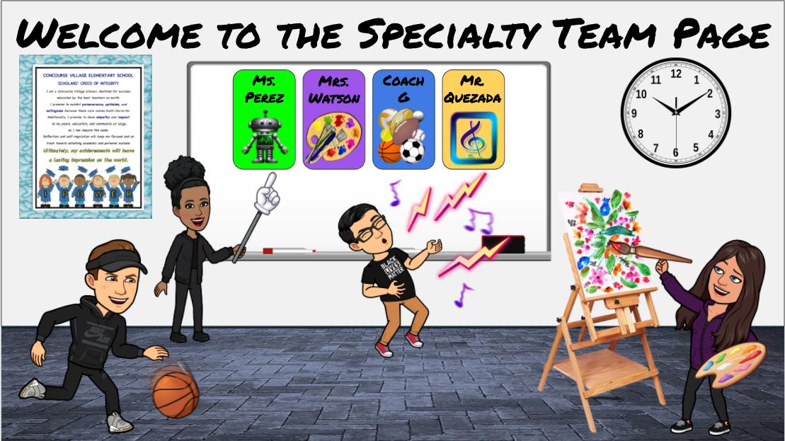 Specialty Team Bitmoji Classroom