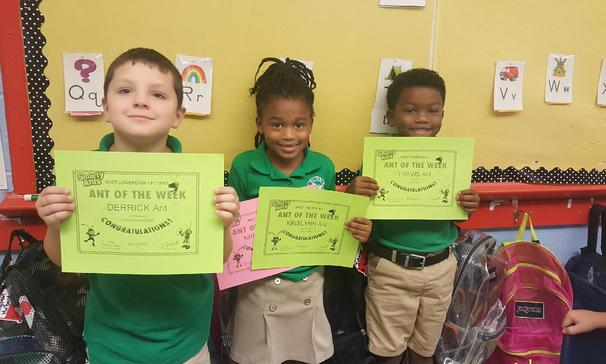 Smarty Ants of the Week in Mrs. Myers' Kindergarten Class at Highland