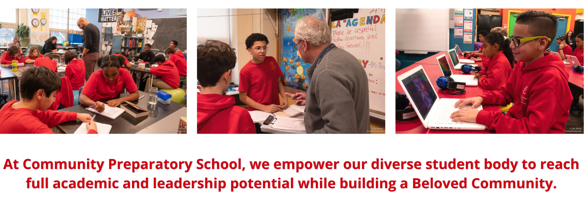 At Community Preparatory School, we empower our diverse student body to reach full academic and leadership potential while building a Beloved Community.