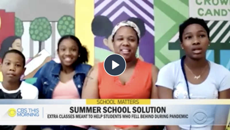 confluence academies cbs morning show remote learning summer school