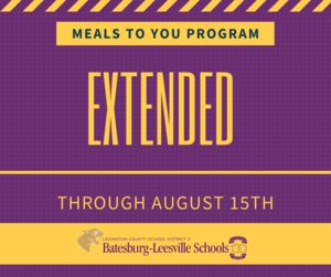Meals to You Program Extended