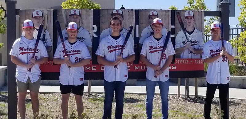 Five graduating Senior baseball players