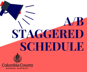 staggered schedule graphic