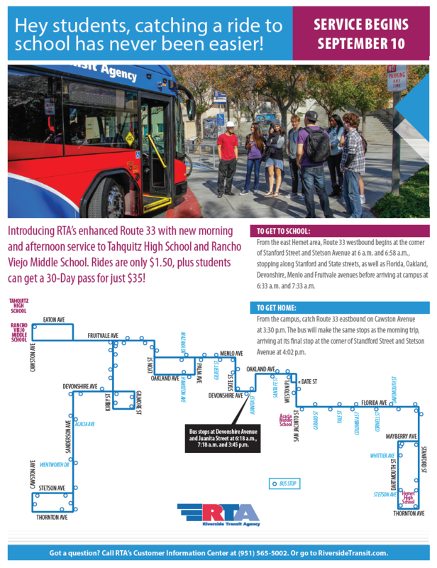 New RTA Route 33